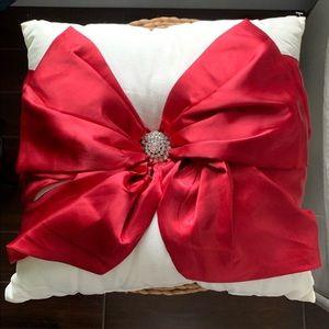 Red Bow Rhinestone Pillow Pier 1